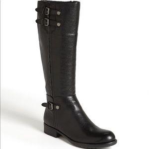 Franco Sarto Pacer Black Ridding Boot size 5.5
